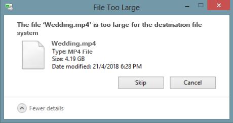 file too large for destination file system