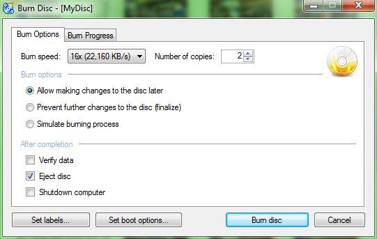 Image 4: CDBurnerXP | image burning speed