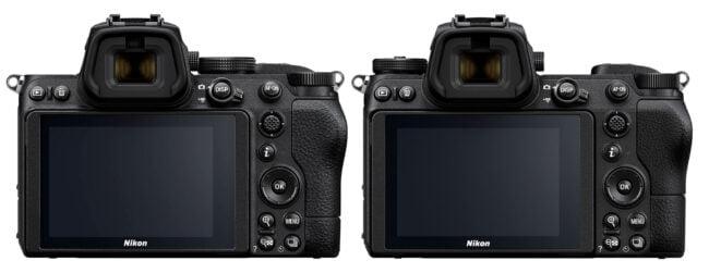 Nikon Z5 vs Z6 front view
