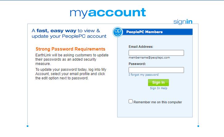 PeoplePC Webmail