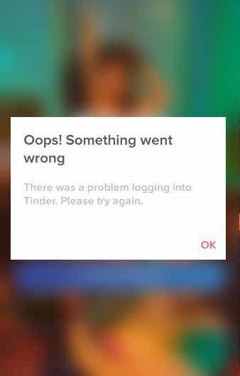 Tinder Oops Something went wrong Resolved | Tinder sign in