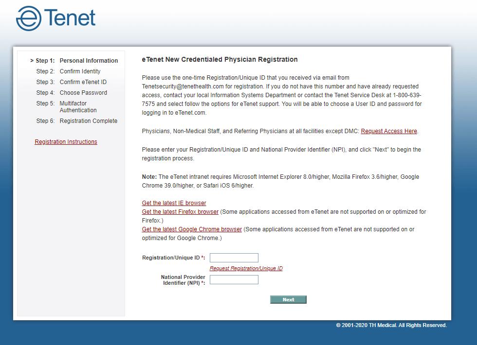 eTenet Portal Employee Login