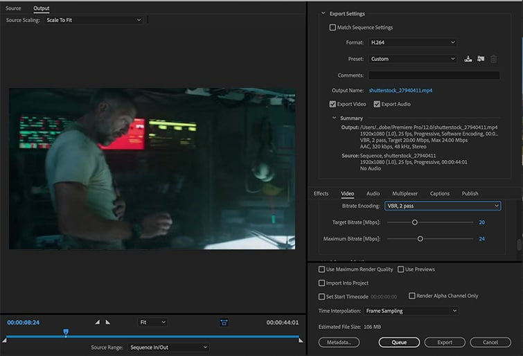 How to Export Premiere Pro Video   Best Export Settings