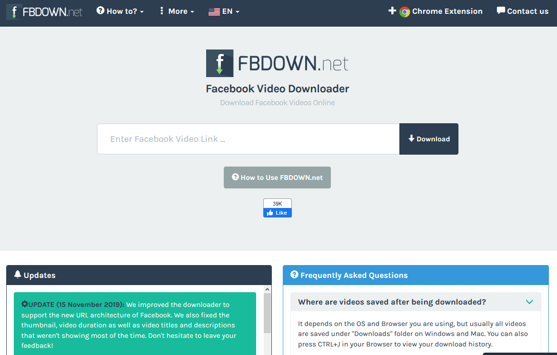 fbdown facebook video download