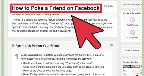 how do i poke on facebook