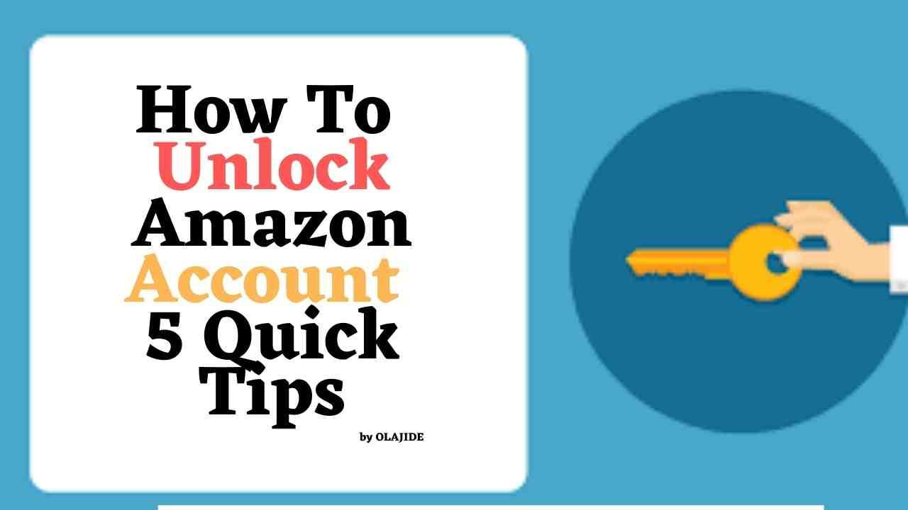 how to unlock amazon account