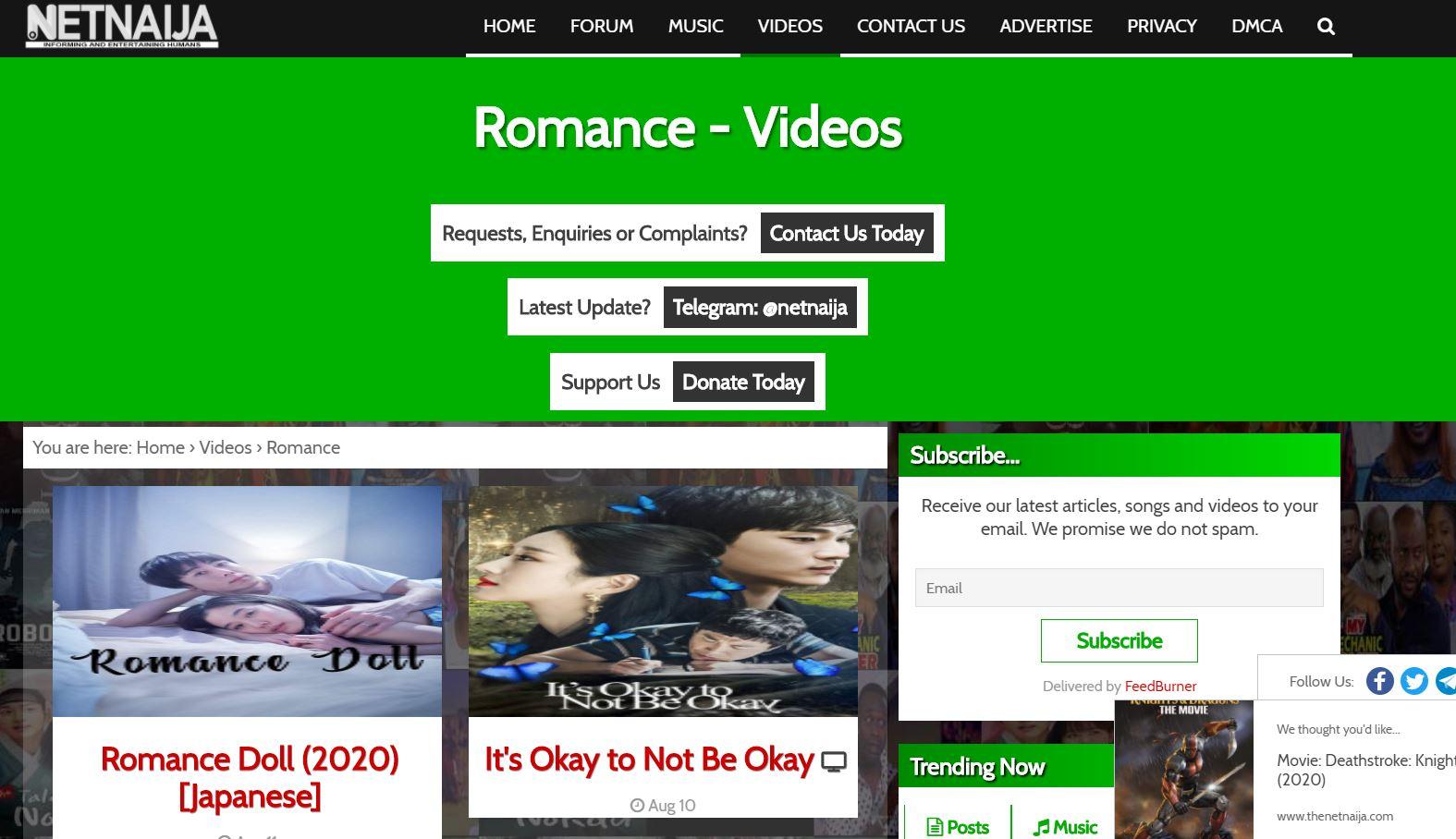 netnaija romance videos