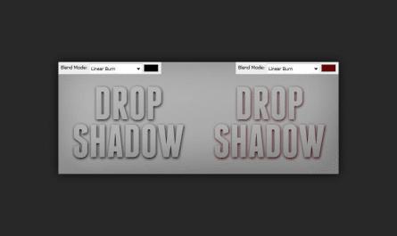 photoshop drop shadow