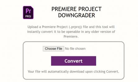 premiere project downgrader