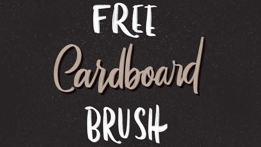 Cardboard Procreate Brush