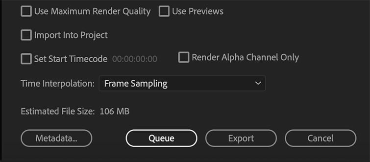 End Your Export Both in Premiere or End In Media Encoder