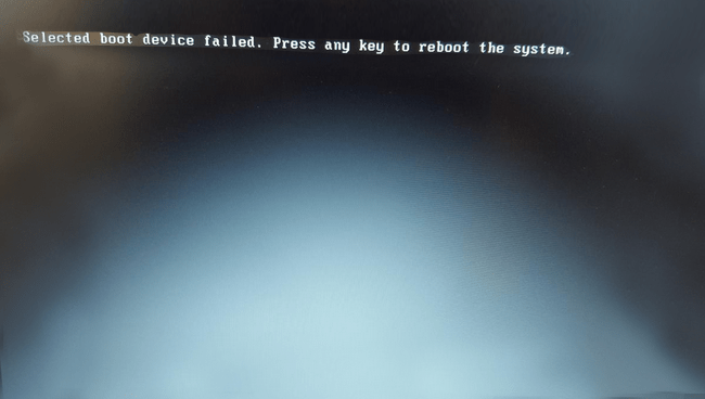 How To Fix The selected boot device failed error on Windows