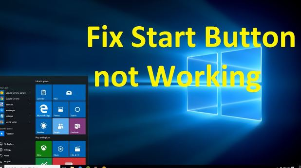 Start button not working windows 10