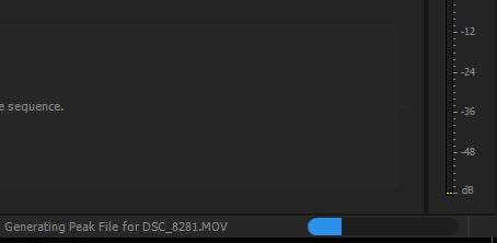 Generating Peak File Premiere Pro